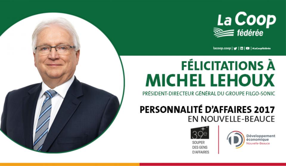 Michel Lehoux nommé Personnalité d'affaires de l'année