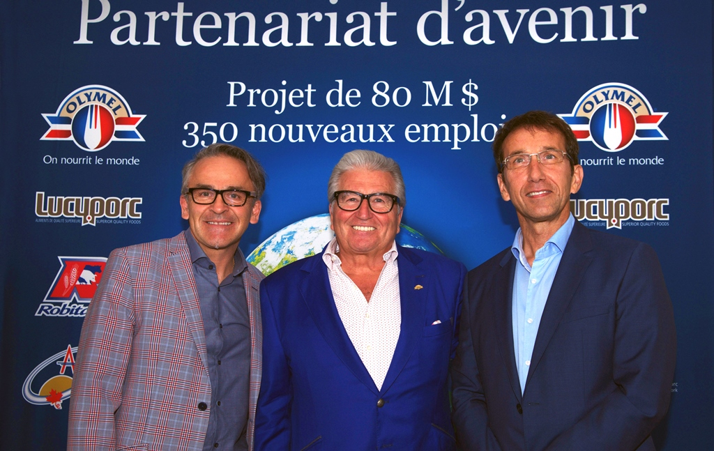 Olymel et Groupe Robitaille investissent 80 M$